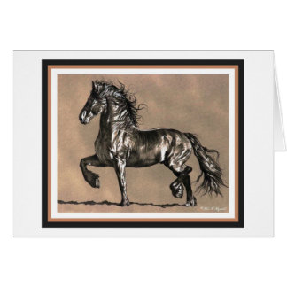 Friesian Horse Card