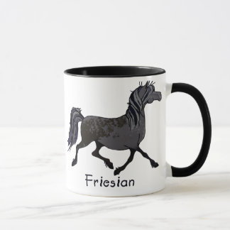 Friesian Horse Cartoon Mug