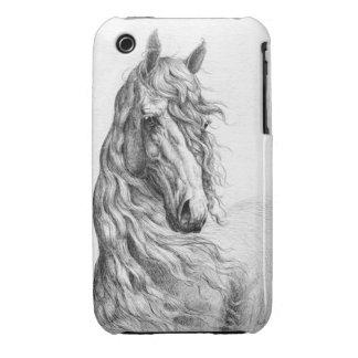 Friesian Horse iPhone 3 Covers