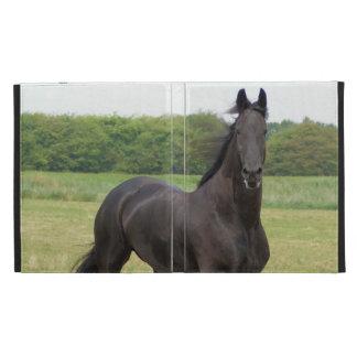 Friesian Horse iPad Folio Cover