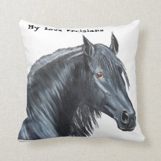 Friesian horse/Couch pillow/Throw pillow/ Throw Pillow