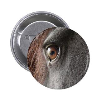 Friesian Horse Design Round Pin