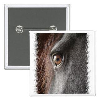 Friesian Horse Design Square Button