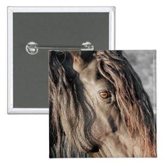 Friesian Horse Eye Button
