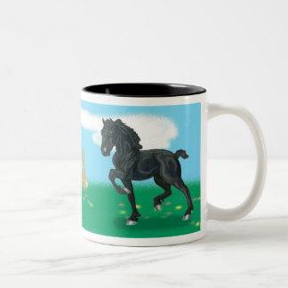 Friesian Horse Foal Bunny mug