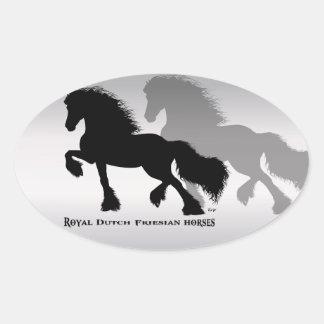 Friesian Horse/frieze horse Oval Sticker