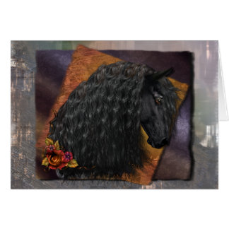 Friesian Horse Greeting Card, white envelopes incl Card