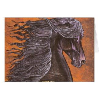 Friesian Horse head Greeting Card