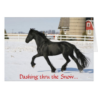 Friesian Horse Holiday Card