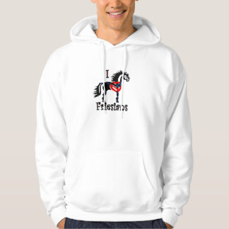 Friesian horse hoodie