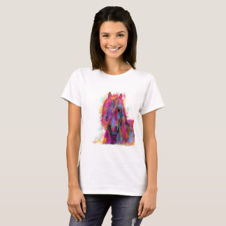 Friesian Horse in CoLouR  ' FRieSiaN WiLD ' T-Shirt