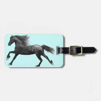Friesian Horse Luggage Tag. Tags For Bags