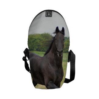 Friesian Horse Messenger Bag