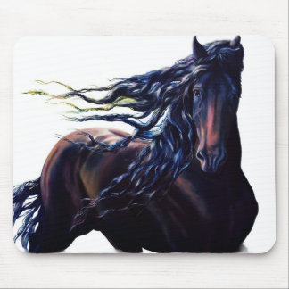Friesian horse mouse pad
