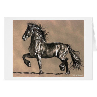 Friesian Horse Note Card