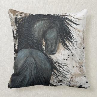 Friesian Horse Pillow by BiHrLe