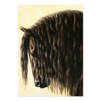Friesian Horse Portrait Large Business Cards (Pack Of 100)