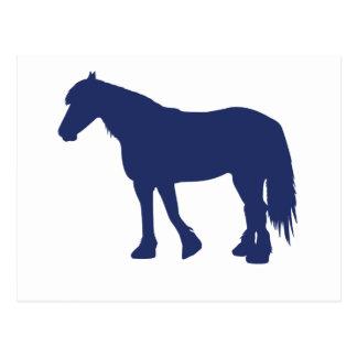 Friesian Horse Postcard