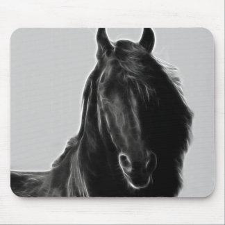 Friesian Horse profile Mouse Pad