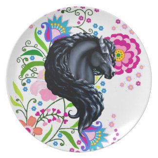 friesian horse, the black beauty party plates