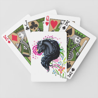 Friesian horse, the black beauty stallion bicycle poker cards