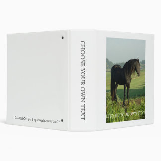 Friesian Horse Vinyl Binders