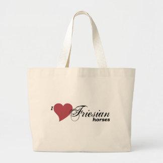 Friesian horses canvas bag