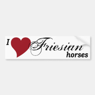 Friesian horses car bumper sticker