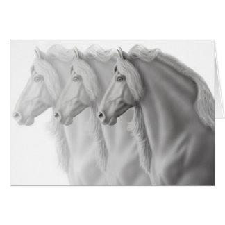 Friesian Horses Greeting Card
