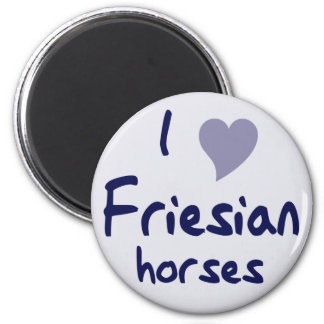 Friesian horses refrigerator magnet