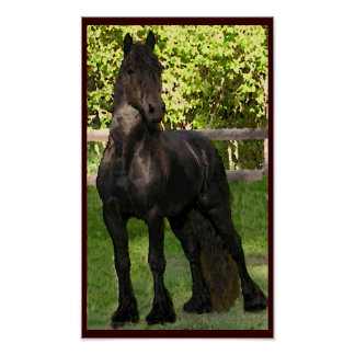 Friesian Painting Print