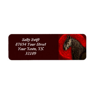 Friesian Portrait Return Address Label