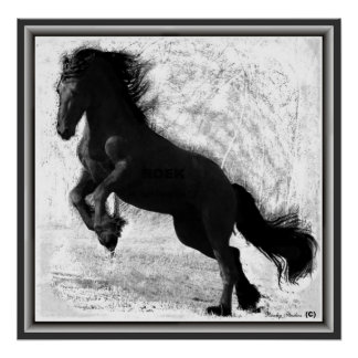 Friesian Power Print