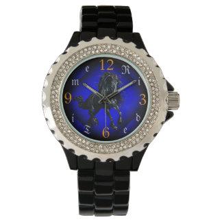 Friesian stallion black beauty horse wristwatch