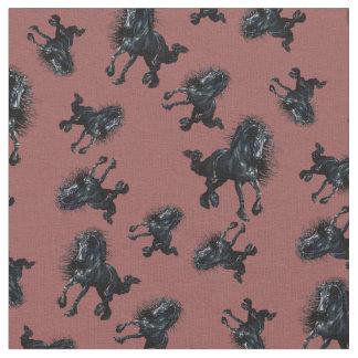 Friesian stallion, black beauty horse, zazzle red fabric