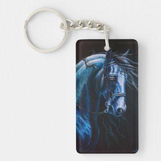 friesian stallion Single-Sided rectangular acrylic keychain