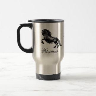 Friesians, black letter 15 oz stainless steel travel mug