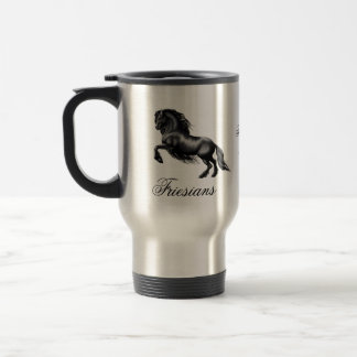Friesians, black letter travel mug