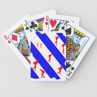 frieze country skating bicycle playing cards