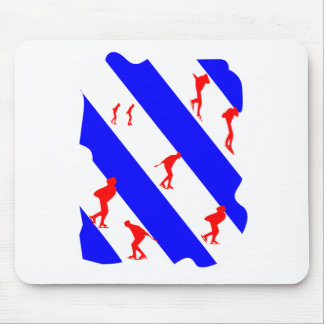 frieze country skating mouse pad