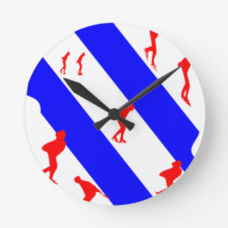 frieze country skating round clock