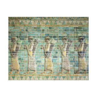 Frieze of archers canvas print