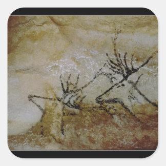 Frieze of deer, c.17000 BC Square Sticker