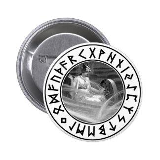 Frigg Rune Shield 2 Inch Round Button