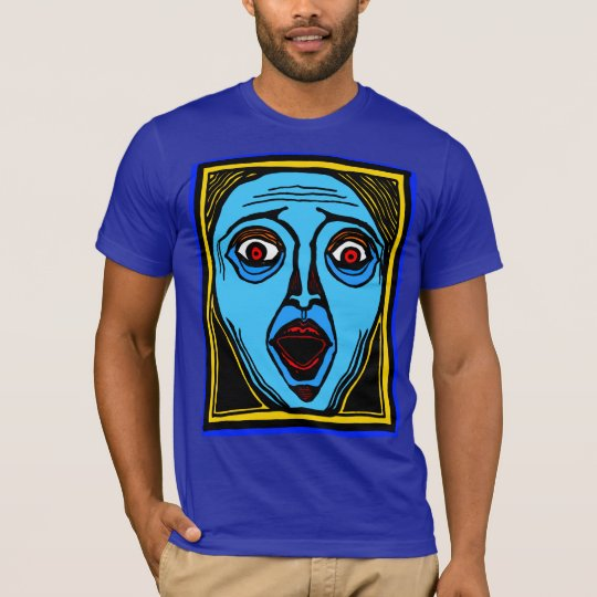 Fright Face (colour) tee by FacePrints
