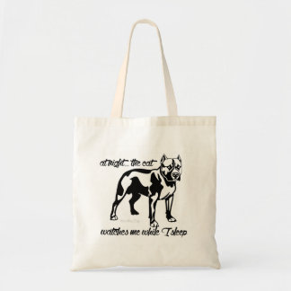 Frightened Pit Bull Budget Tote Bag