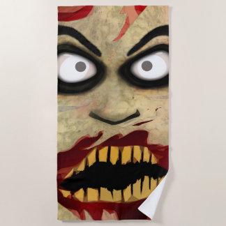 Frightening Zombie Beach Towel