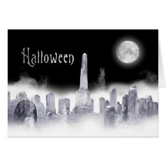 Frightful Halloween Greeting - Spooky Graveyard Card