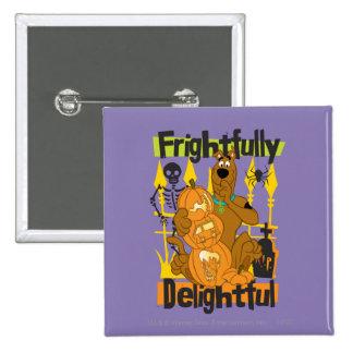 Frightfully Delightful 2 Inch Square Button