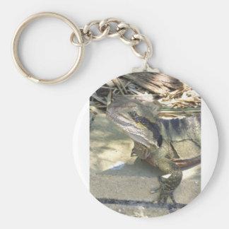 Frill neck lizard keychain